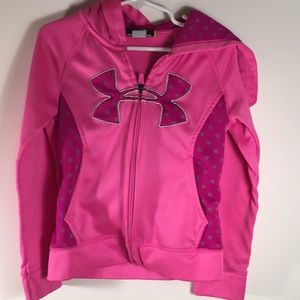 Girls Under Armour Jacket Size 5 pink Hooded